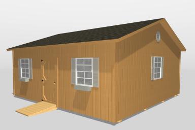 A modular cabin home in Kentucky