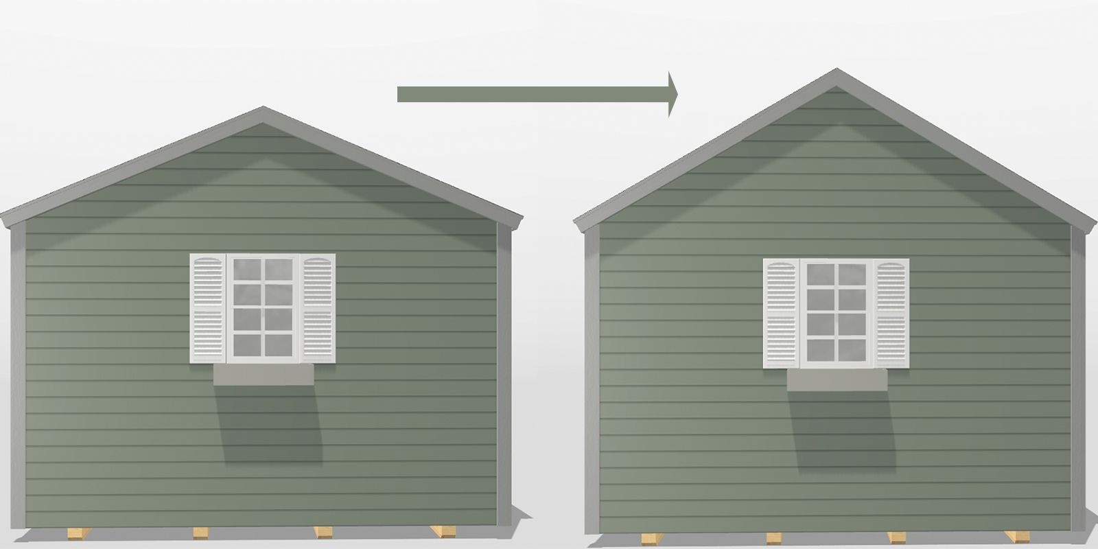 A steeper roof options for custom sheds in KY and TN