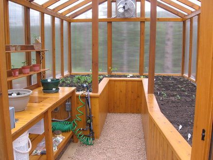 creative shed with greenhouse windows