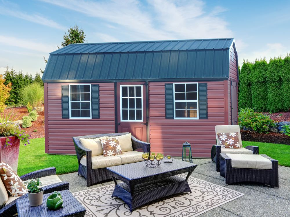 A red vinyl shed for ideas