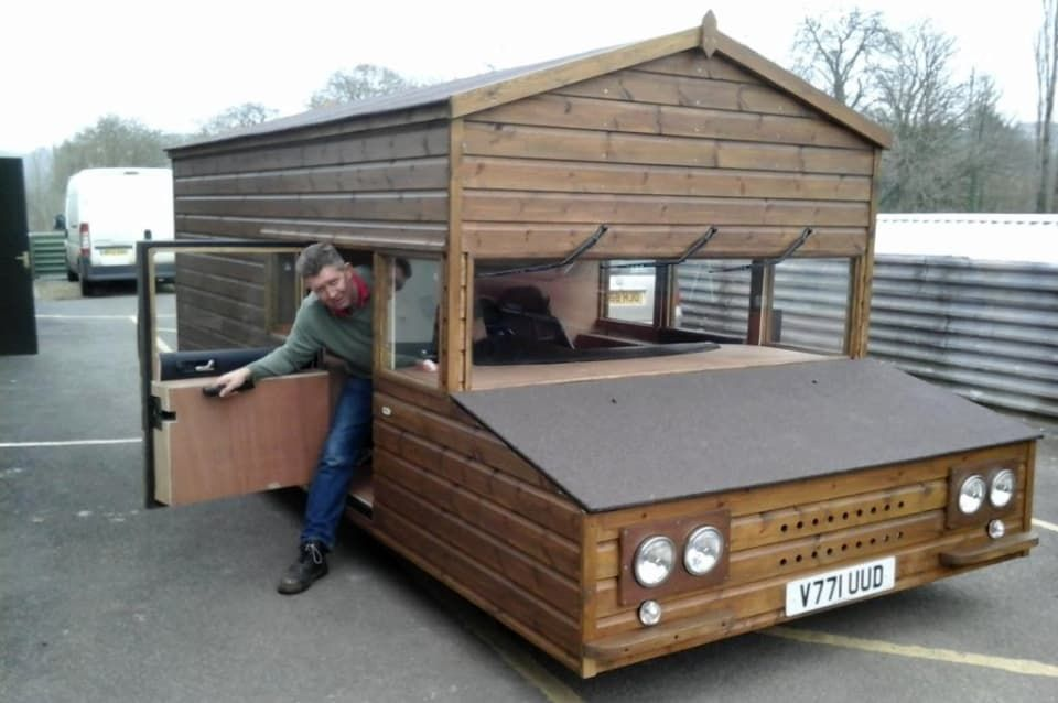 craziest shed on wheels idea
