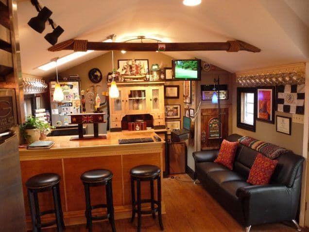 Man cave shed idea
