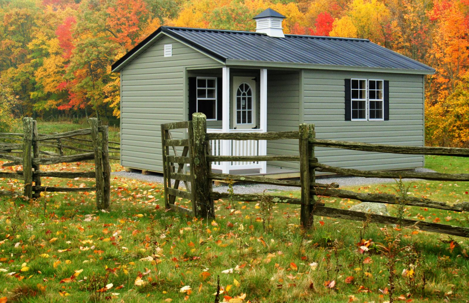A hunting cabin shed idea