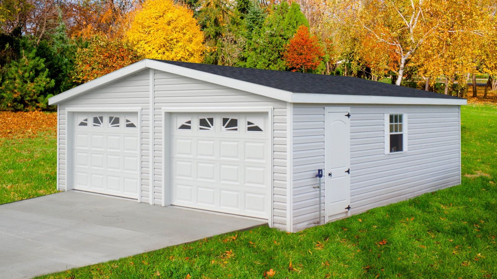 A prebuilt garage for two cars in KY or TN