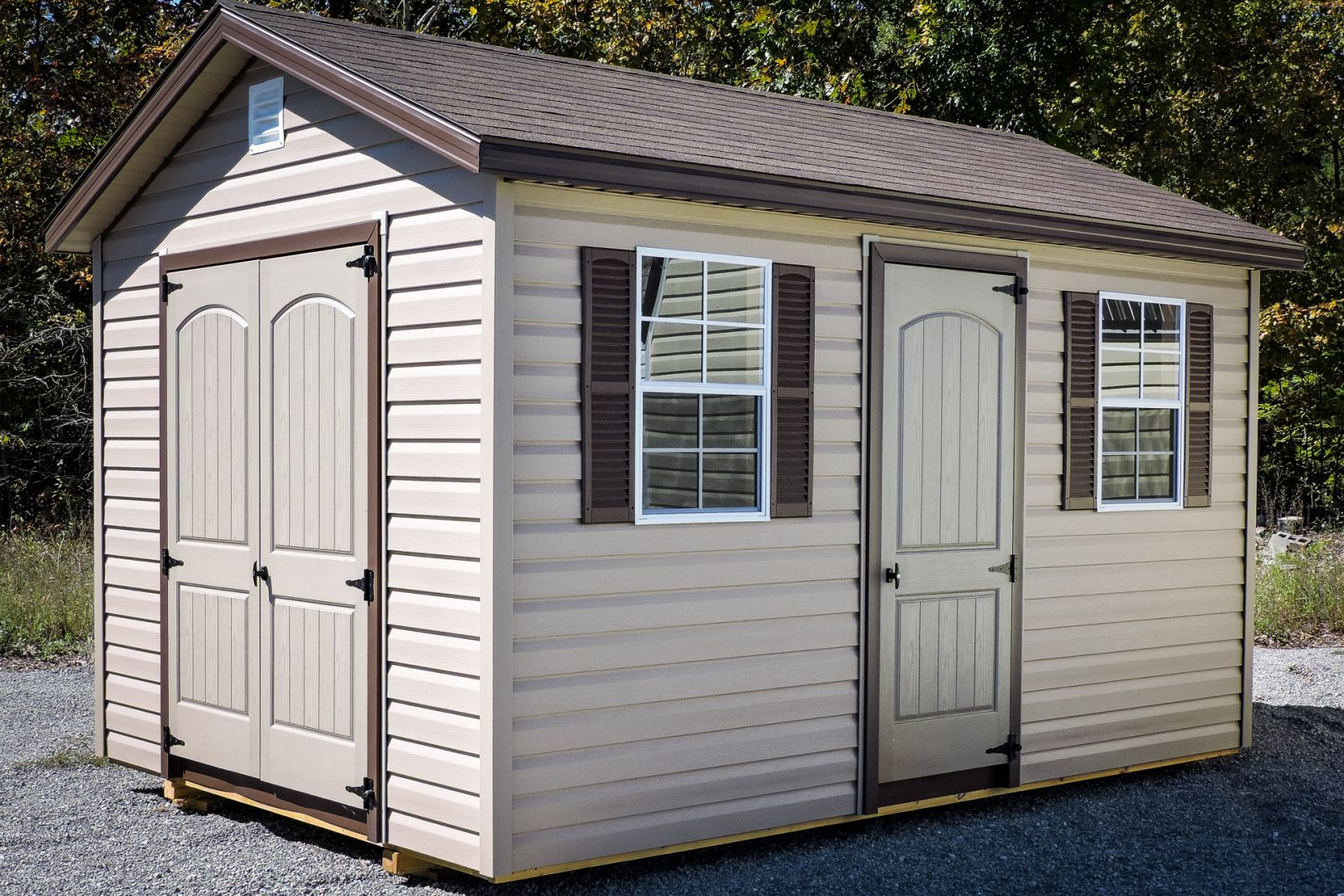 A vinyl rent to own storage building in TN