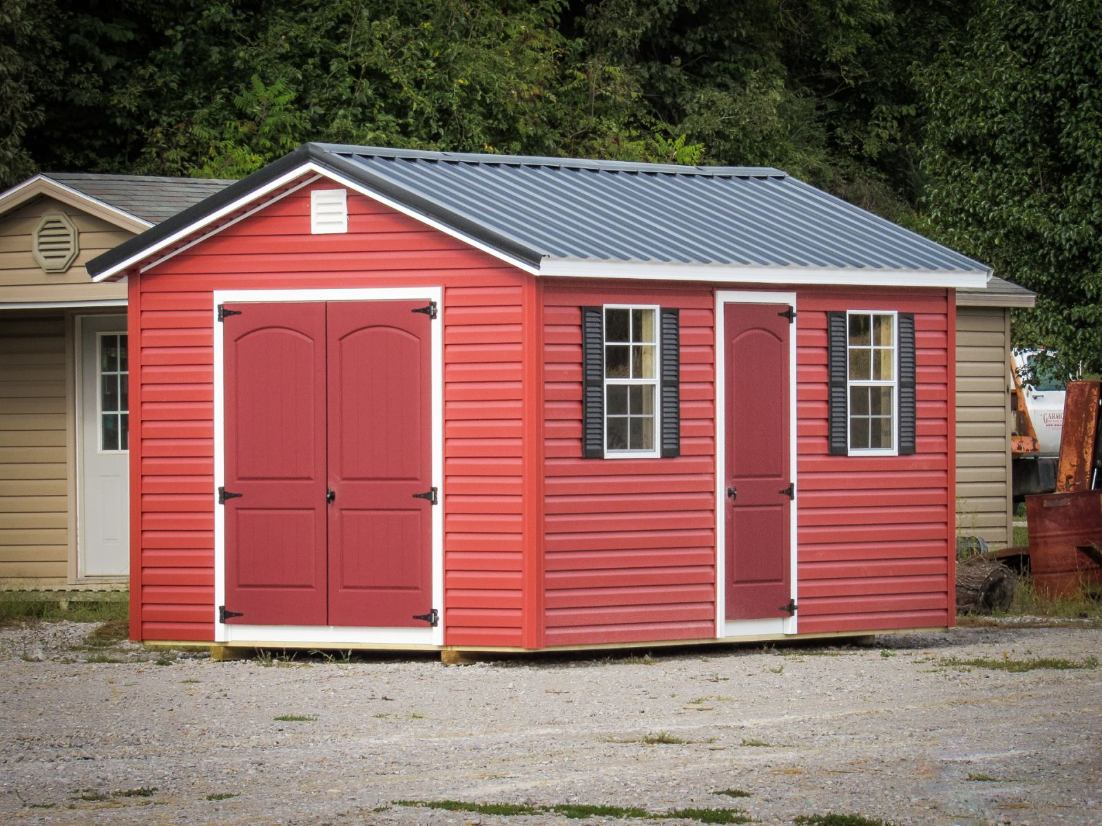 A vinyl storage shed for sale near Albany, KY