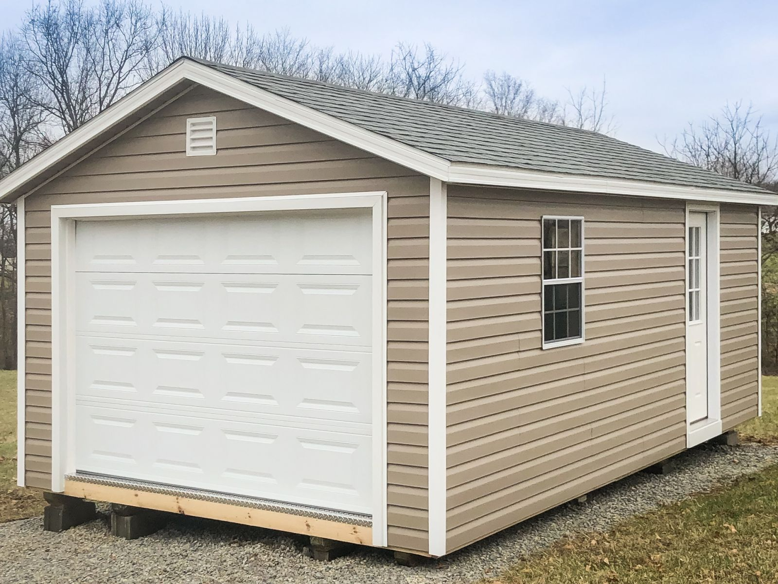 A garage shed for sale in Greensburg, KY