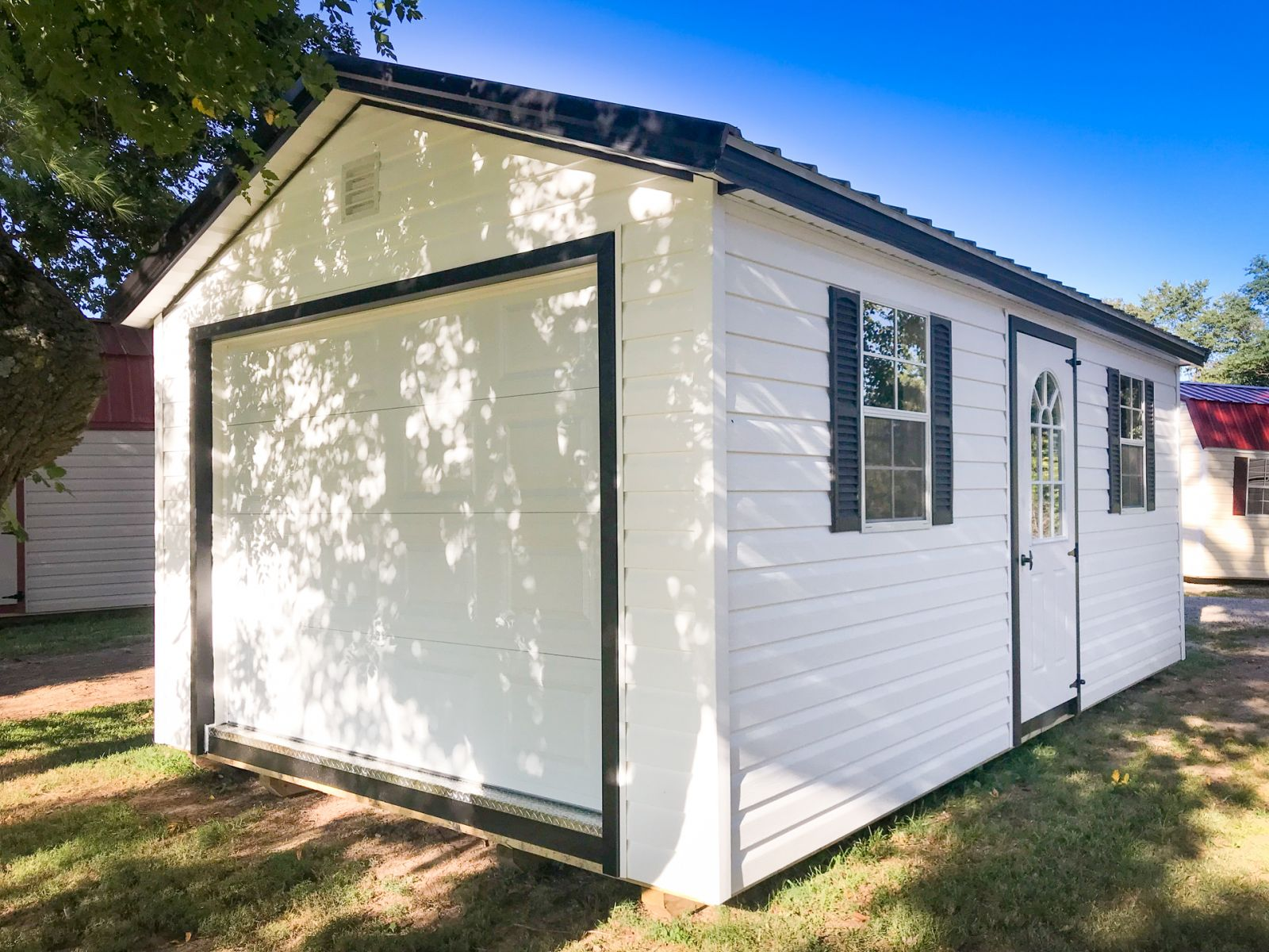 A garage shed for sale in Cave City, KY