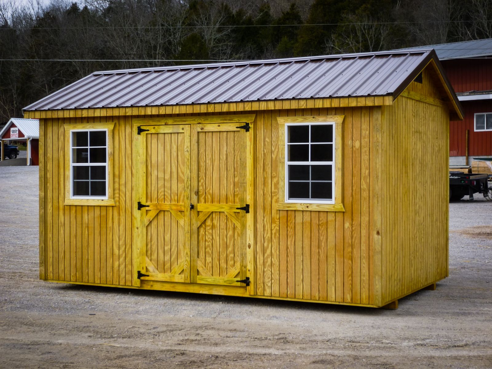 A storage shed for sale in Paris, TN