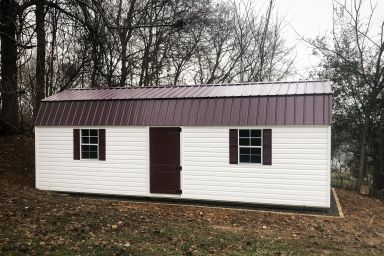 A lofted portable building for sale in Tennessee