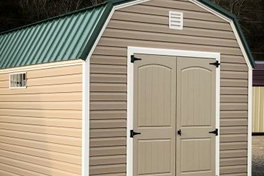 A lofted portable building for sale in Kentucky
