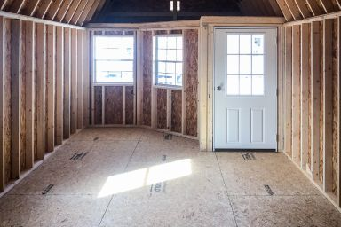 Interior of a tiny cabin for sale in Tennessee