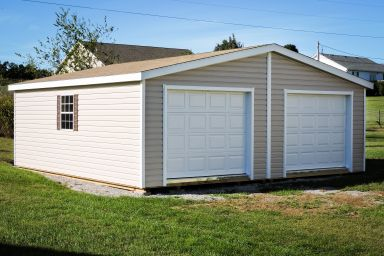A modular prebuilt garage in Kentucky after delivery