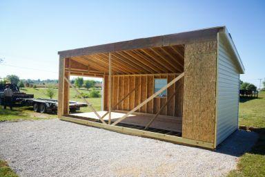 Part of a modular garage in Kentucky