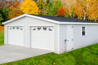 A custom garage constructed by garage builders in Kentucky