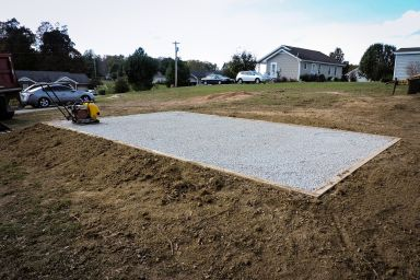 Installing a shed foundation in Tennessee